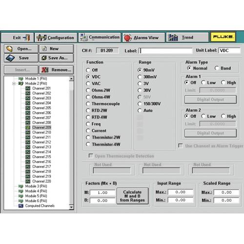 Fluke DAQ 6.0 응용 소프트웨어
