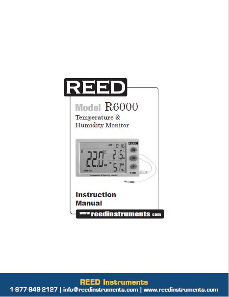 REED R6000 Temperature and Humidity Meter