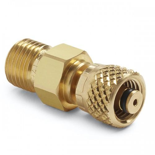 6 mm 튜브 피팅 x (M) 퀵 테스트, no check-valve, 황동