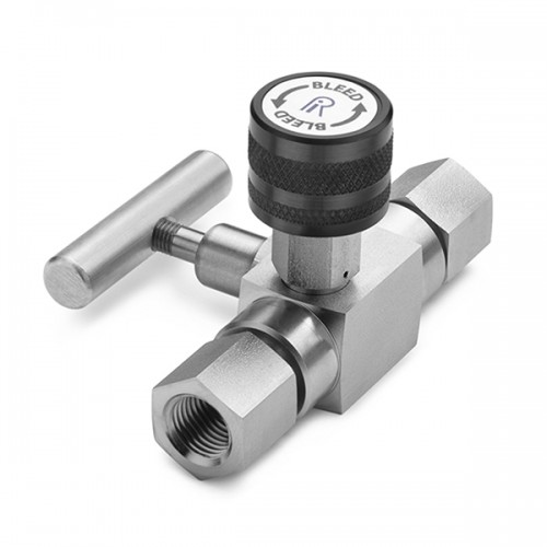 Block & bleed valve - 1/4 (F) inlet x 1/4 (F) outlet, S.S