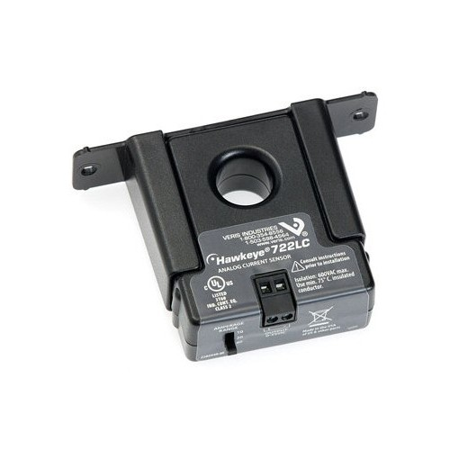 Veris Hawkeye® H722LC 솔리드 코어 전류 센서 0 ~ 10 / 20 / 40A AC 0 ~ 5VDC로 선택 가능
