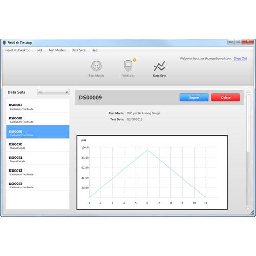 정밀급 디지털 압력계 (데이터 로깅)